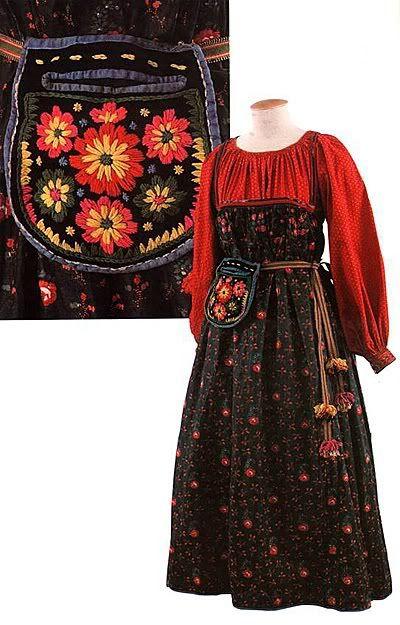 Trang phục lễ hội dành cho các cô gái trẻ vùng Simbirsk-Nga vào những năm 1910 - 1920