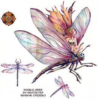 unusual fairy drawing: dragonflies inkspired musings: Fantasy Cottages with Fairies