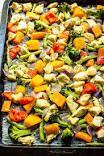 Sheet Pan Honey-Dijon Chicken and Vegetables