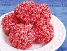 """Jello Popcorn Balls..my Grandma Eva used to make these every holiday season!!"""" LOVED THESE as a little girl!  Made them with my kiddos year before last..not as good as grandma's but still yummy..and we used black cherry jello..just like grandma ; )"""