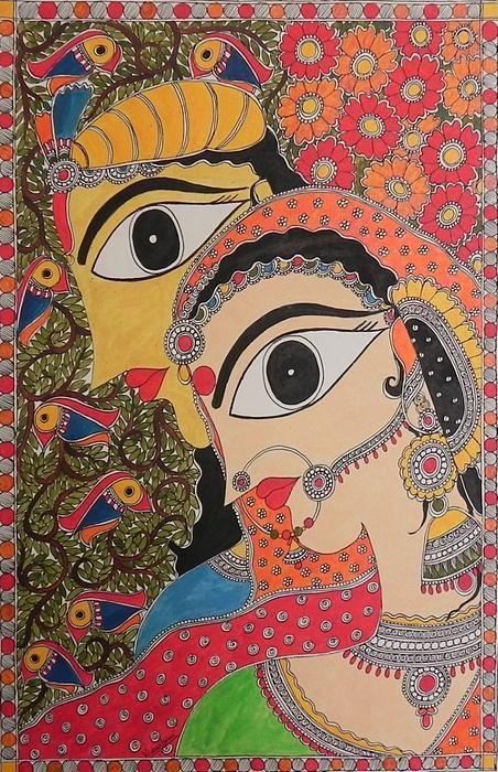 pepupstreet.com, Madhubani painting, Indian folk art by Bharti Dayal