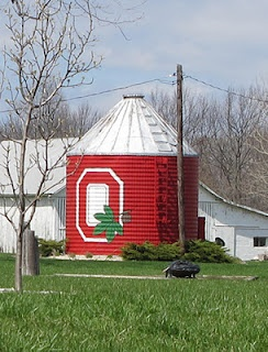 O-H! I-O! Hubby needs to paint our corn crib like this one!!
