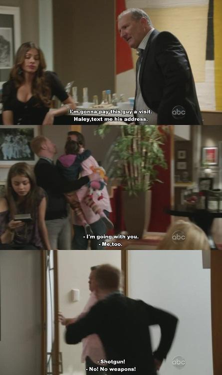 Modern Family season 5- Shot gun! No weapons!