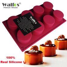 Walfos 3d hecho a mano de forma redonda molde de pastel de silicona 3 de la magdalena de la jalea del pudín galleta mini muffin molde del jabón diy herramientas de la hornada(China (Mainland))