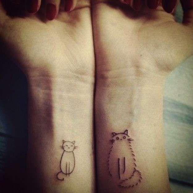 Tatuaggi Sui Polsi Con Gatti Stilizzati Disegni Per Tatuaggio Di Gatto Tatuaggi Carini Tatuaggi