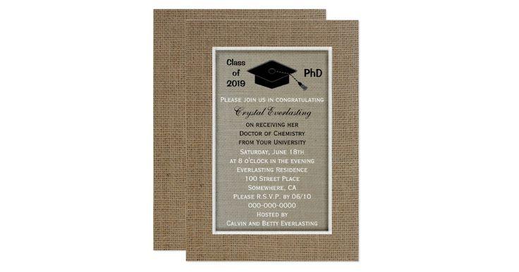 PhD Doctoral Graduation Announcement Invitation | Zazzle