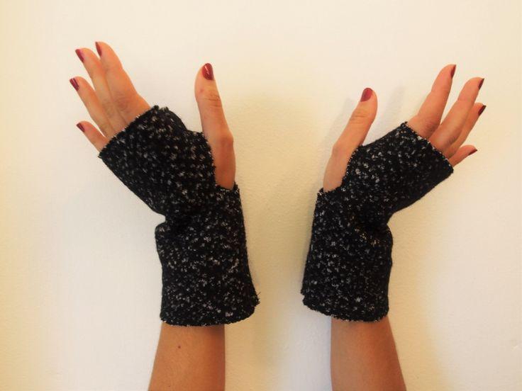 Guanti senza dita/manicotti/misto lana blu scuro/foderati in jersey blu/guanti inverno/scaldamani/idea regalo di ZenithLab su Etsy