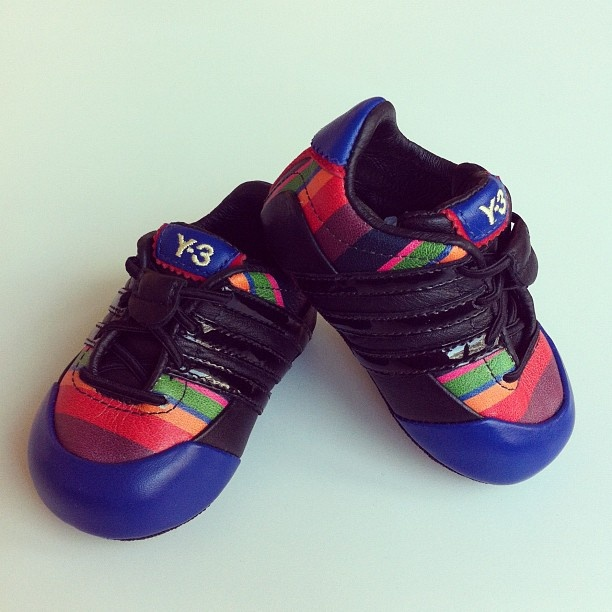 Runners in the making will love these flexible Y-3 Baby Sprint shoes! #Y3 #baby #sneaker