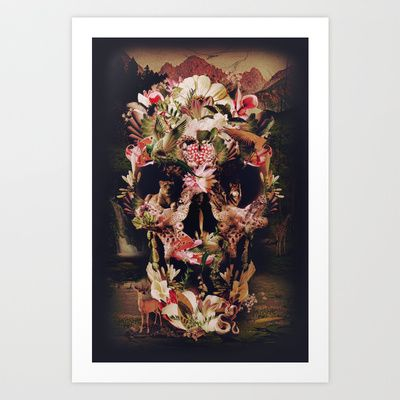 Jungle Skull Art Print by Ali GULEC - $17.00