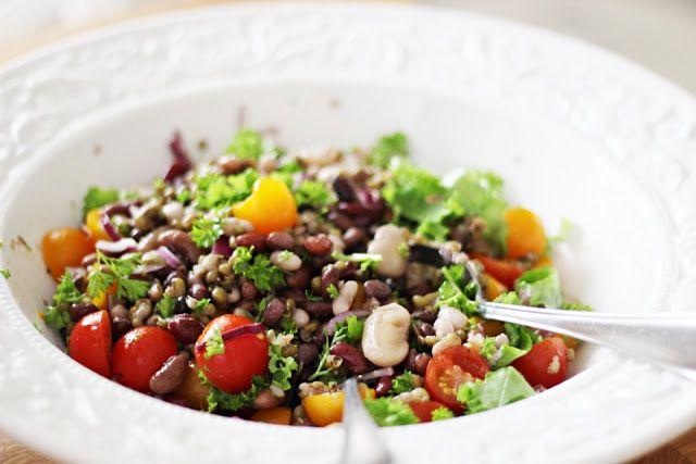 LA PETITE PRINCESSE: punavihreä papusalaatti - gluteeniton, vegaaninen