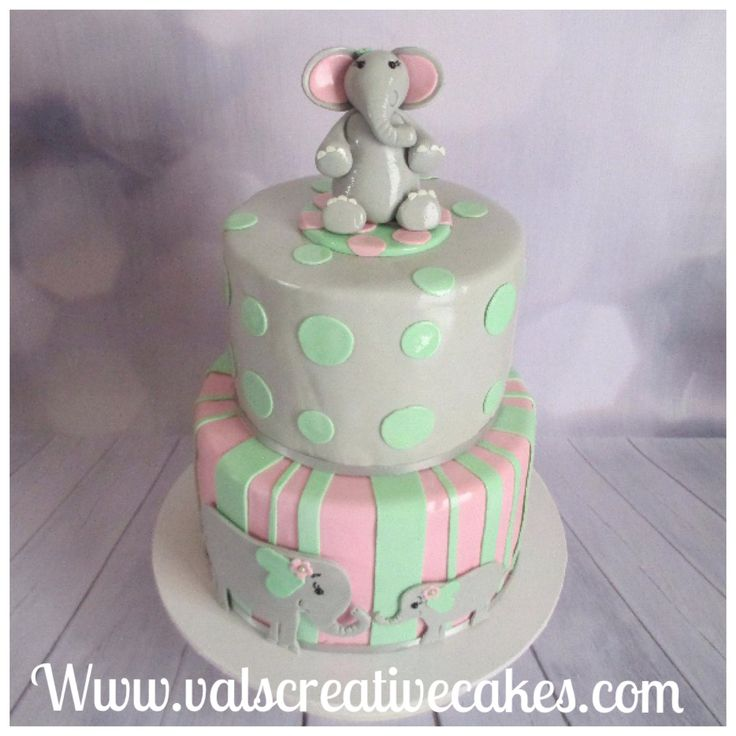 Baby shower cake -elephant themed