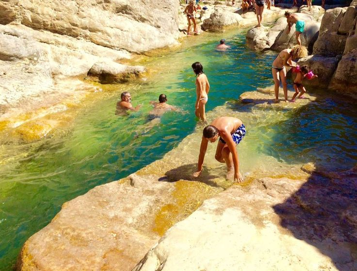 swimming spots and waterfalls in the pyrenees