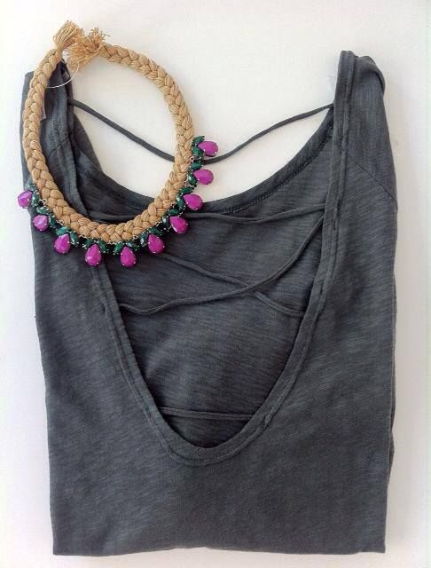 Sometimes all you need is a statement necklace and a unique top!