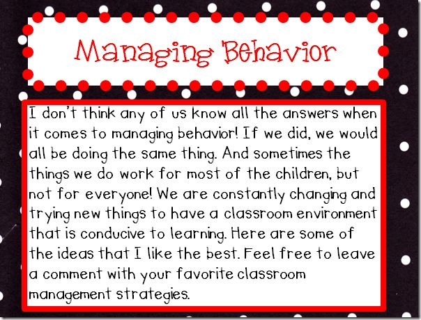 93 Best Behavior Management Images On Pinterest | Classroom