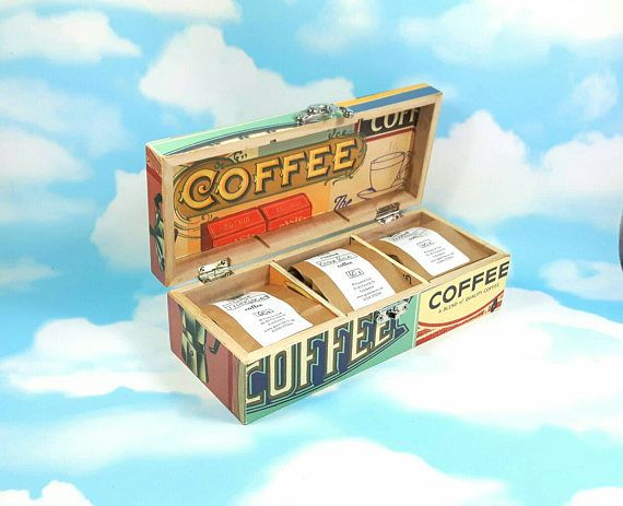 Check out this item in my Etsy shop https://www.etsy.com/uk/listing/470638095/fathers-day-gift-coffee-caddy-coffee-box