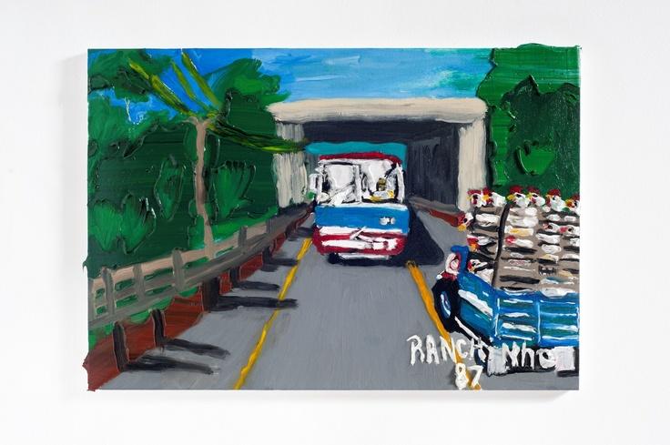 Rodrigo Andrade - 2012 |  Versão sobre obra de Ranchinho S/T - 1987 |  Óleo sobre tela sobre mdf |  40 x 60 cm