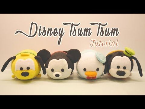 DIY Disney Tsum Tsum Plushies - Mickey Mouse, Donald Duck, Goofy & Pluto (for Sweetorials Auditions) - YouTube