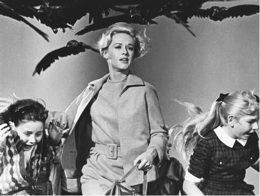 Hitchcock's The Birds is in a class by itself. Great cast, and an eerie soundtrack of manufactured bird noises (no music). The suspense around the little schoolhouse scene is Hitchcock at his best.
