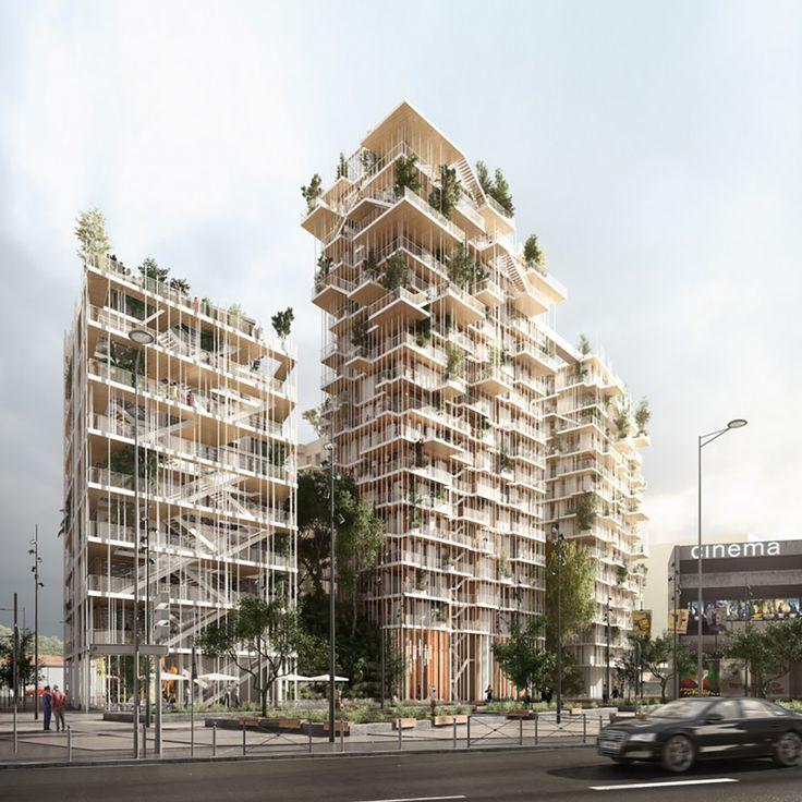 sou fujimoto  laisné roussel propose vegetated towers for bordeaux euratlantique