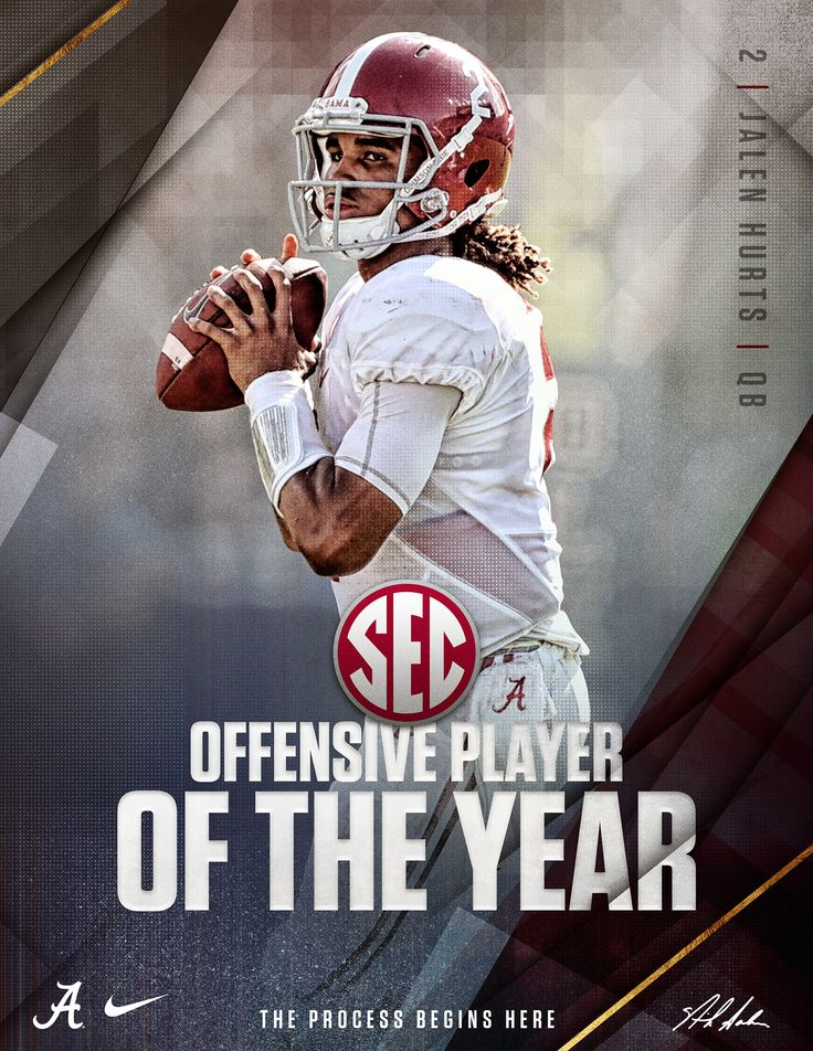 2016 Alabama Football Postseason Awards on Behance