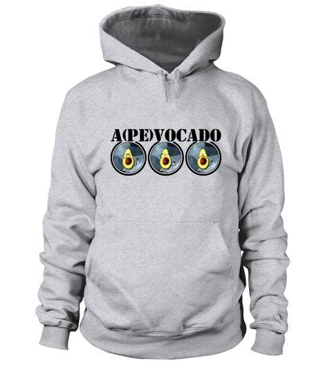 """# Apevocado – """"Drei Affen"""" Avocado Vegan .  Ein Design für Avocado-Liebhaber, Veganer, Vegetarier und alle Leute mit einer guten Portion Humor.Bitte beachten Sie: Dieses Shirt (mit den """"drei Affen""""/Avocados) ist Teil der """"Funvocado"""" Kollektion. Um mehr Designs zu sehen, suchen Sie nach """"Funvocado""""."""
