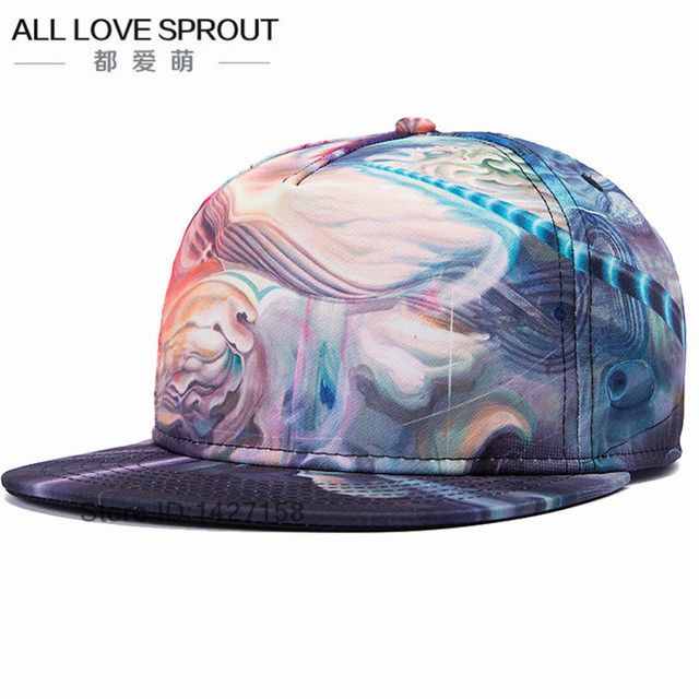 Brands 3D Color Printing Buddha Men Women Sports Hat Hats Baseball Cap Fashion trends Hip Hop Snapback Caps bone free shipping