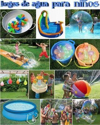 juegos de agua para nios en verano