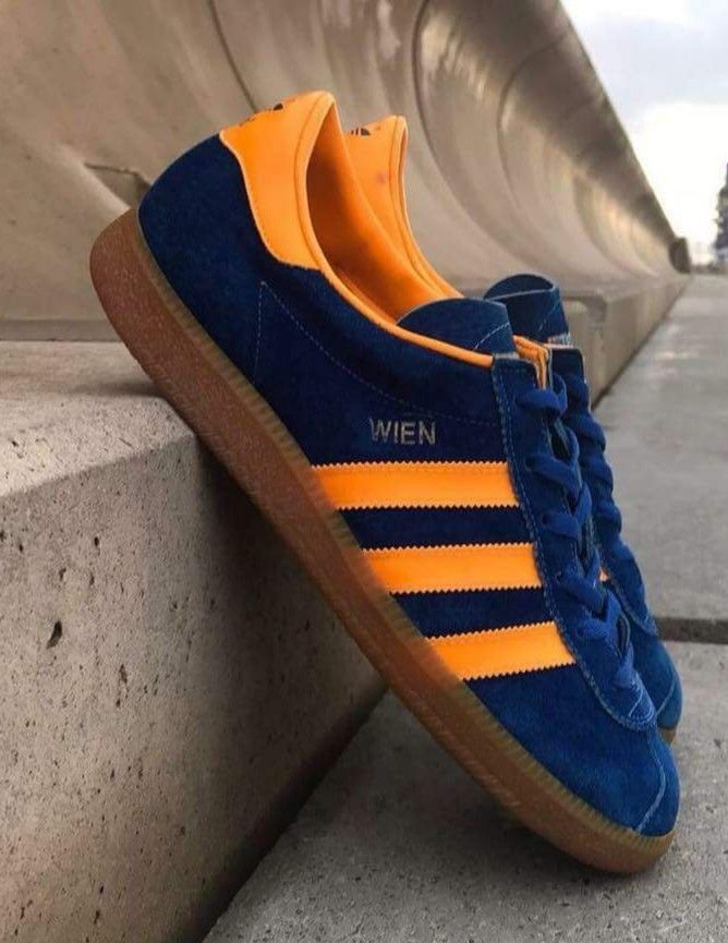 on sale 9279e 4d63c Deffo in my Adidas Top Ten, Wien is vintage, a stunning colourway of Navy  with Amber    -trim topped off with a gum sole and put together lovingly by  human ...