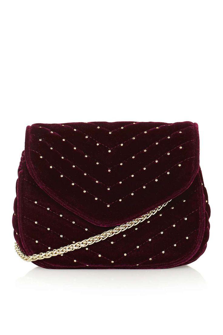 Velvet Cross Body Bag - Bags & Purses - Bags & Accessories - Topshop