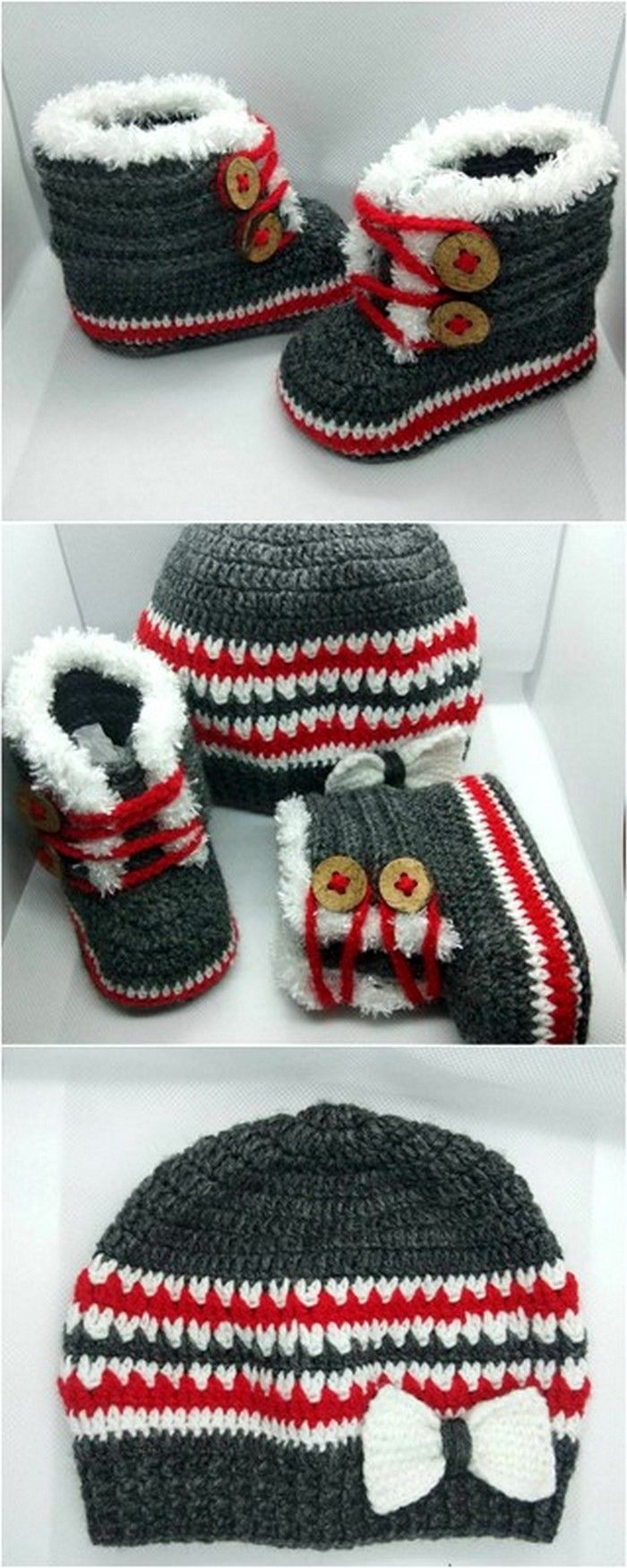 beanie and shoes crochet pattern design