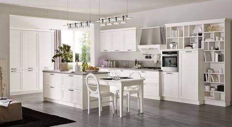 #cucine #stosa #contemporanee #white #design #stile #qualità #arredamento  Cucina Contemporanea Stosa, modello Maxim