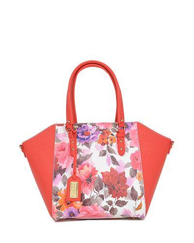 Melisandre Floral Saffiano Satchel - $365.00