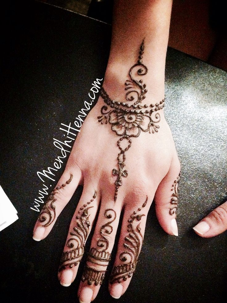 Wedding henna tattoo