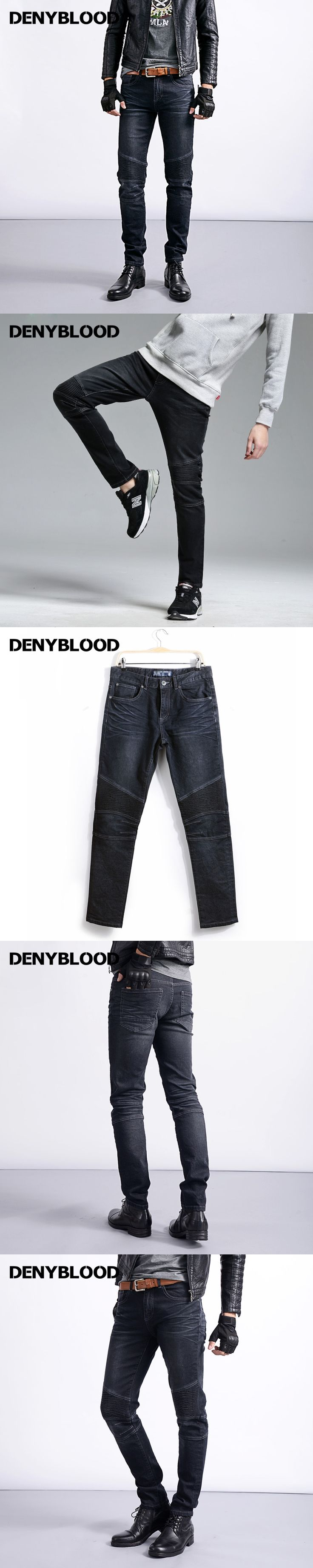 2017 Mens Stretch Denim Cargo Jeans with Pleated Men Slim Straight Skinny Jeans cuttings Darked Wash Jeans Casual Pants 169066