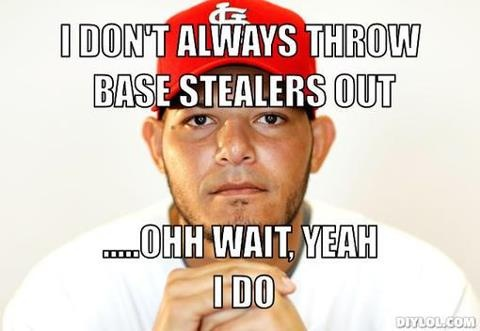 because he's THE best! Yadier Molina of the St. Louis Cardinals -