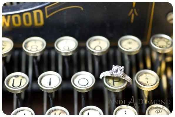 Turn a typewriter into a centerpiece: | 31 Beautiful Ideas For A Book-Inspired Wedding