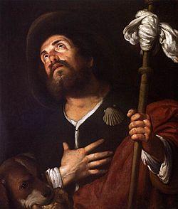San Rocco dipinto da Bernardo Strozzi – Scuola Grande di San Rocco a Venezia