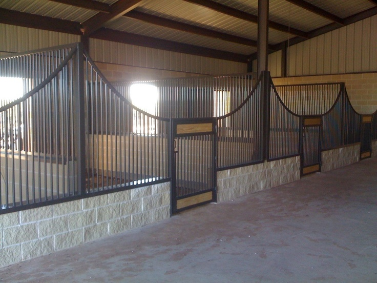 open stall design-  Very good idea ! Horses can't reach over to other stalls & bite other horses !