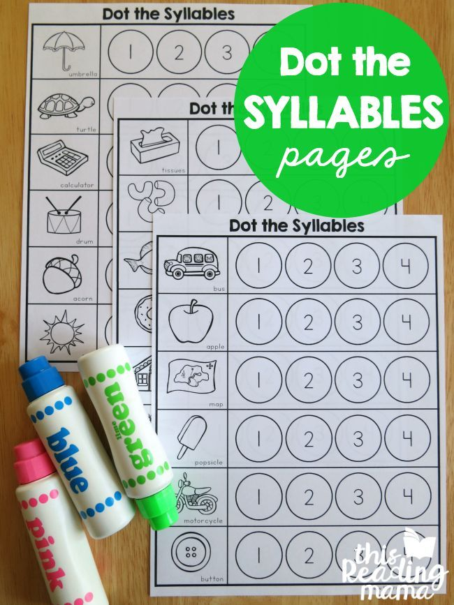 Syllables Worksheet - Dot the Syllables - This Reading Mama