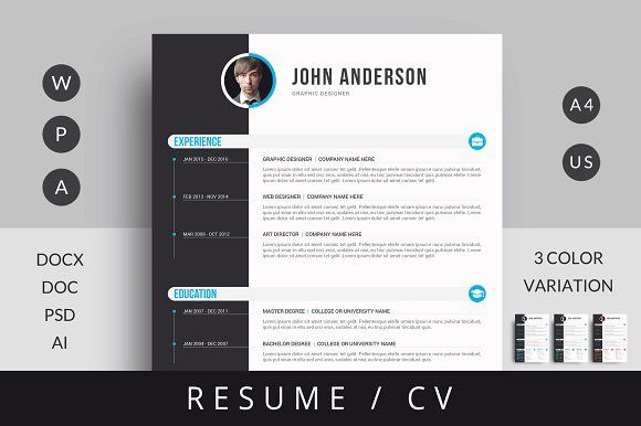 Resume Template by Mr-Template on @creativemarket