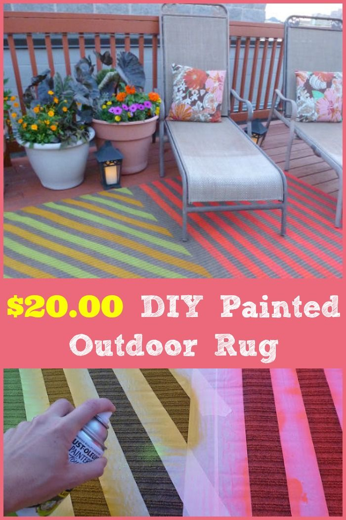 Diy Painted Outdoor Rug Outdoor Rugs Budgeting And Create