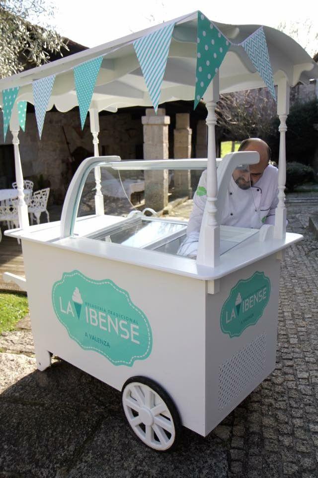 Carrito de helados Artesanales para bodas y eventos