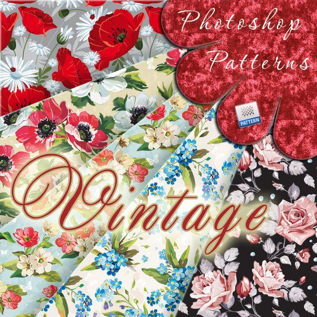 Vintage Floral Patterns by flashtuchka.deviantart.com