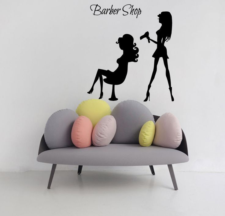 Wall Decals Girl Hair Styling Beauty Salon Vinyl Sticker Barber - Custom vinyl wall decals for hair salonvinyl wall decal hair salon stylist hairdresser barber shop