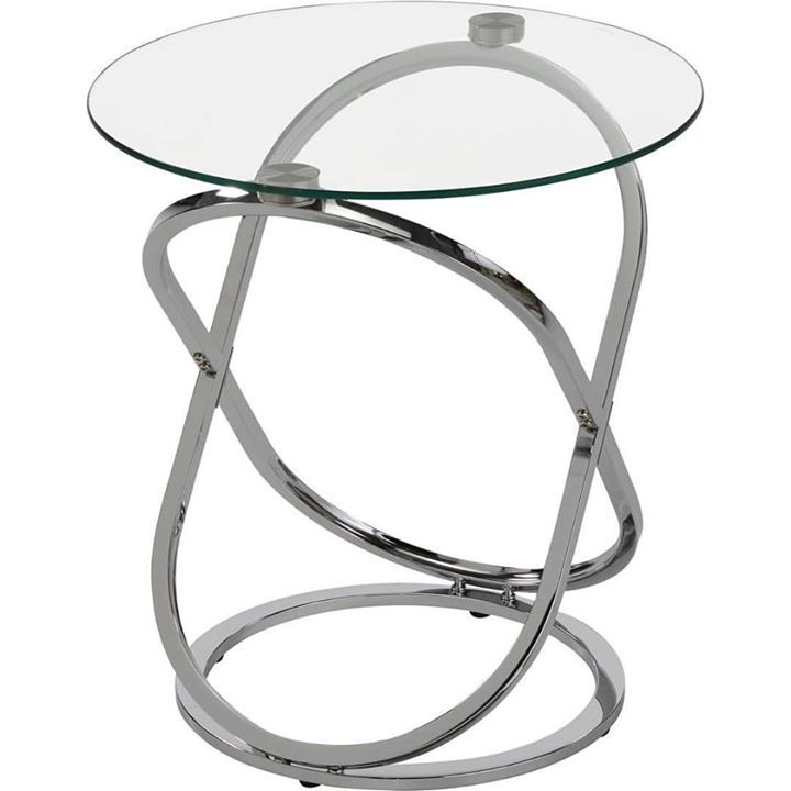 The Carlyn accent table from !nspire adds an element of shine to your home decor  http://worldwidehomefurnishingsinc.com/carlyn-accent-table-in-chrome.html
