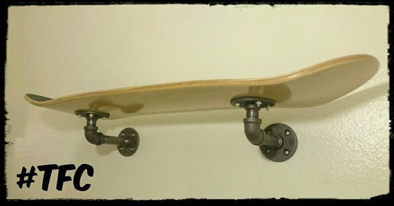 single deck skateboard shelf by TFCPipeDreams on Etsy