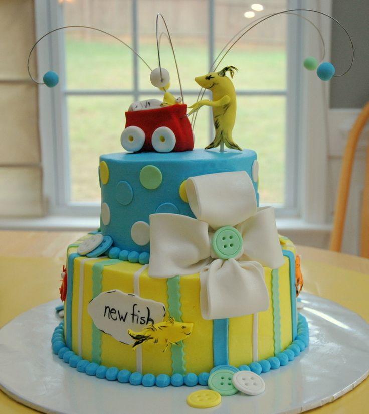Fish Baby Showers, Twin Baby Showers, Fish Birthday Cakes, Dr Suess Baby,  Baby Cakes, Baby Shower Cakes, Baby Shower Decorations, Themed Cakes, ...