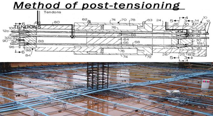 Construction of post-tensioned slabs on grade is equivalent