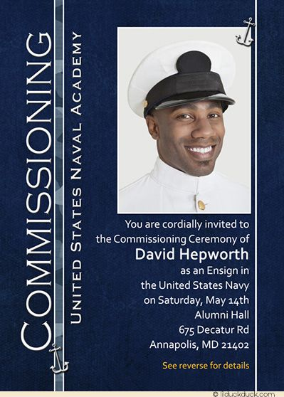 Naval Academy Ceremony Commissioning Card