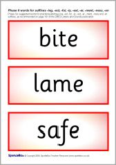 Phase 6 word cards for adding suffixes -ing, -ed, -ful, -ly, -est... (SB2180) - SparkleBox